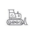 excavator line icon concept vector image vector image