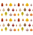 fall leaves tree seamless background vector image