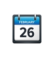 February 26 Calendar icon vector image vector image