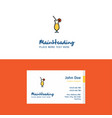 flat juice glass logo and visiting card template vector image vector image