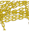 golden chains icon image vector image