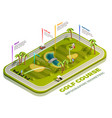 golf course isometric infographic vector image vector image