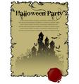 Halloween party design vector image vector image