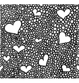Hand drawn black brush circles and dots seamless vector image