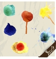 Hand drawn watercolor splashes set vector image vector image