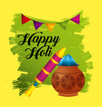 happy holi festive party traditional poster vector image vector image