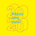 happy new 2020 year typographic minimal poster vector image vector image