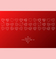 happy valentines day background with creative vector image