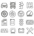 icons on the theme of a motorist in the style of vector image vector image