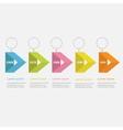 infographic timeline five step ribbon empty arrow