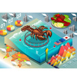 Isometric Infographic of Lobster Breeding vector image vector image