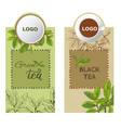 label tea3eps vector image