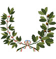 laurel and oak branches with ribbon vector image vector image