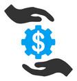 maintenance price flat icon vector image vector image