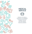 Medical service background vector image vector image