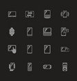 mobile devices - flat icons vector image vector image