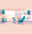 modern dentist office cartoon interior vector image vector image