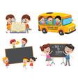 of school children vector image vector image