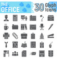 office glyph icon set business symbols collection vector image vector image