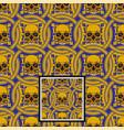 ornamental skull pattern vector image vector image