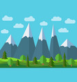 panoramic mountain cartoon landscape vector image vector image