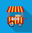 pizza cart icon in flat style isolated on white vector image