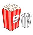 popcorn hand drawing vector image vector image