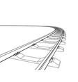 railway going forward 3d vector image vector image
