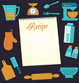 Recipe document template vector image vector image