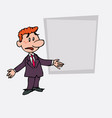 red hair businessman disoriented and worried is vector image vector image