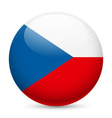 Round glossy icon of czech republic vector image vector image