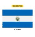 Salvadoran grunge flag vector image vector image