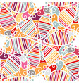 seamless ethnic boho floral pattern vector image vector image