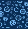 seamless pattern with gears of different sizes and vector image vector image