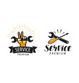 service logo or label repair workshop icon vector image vector image