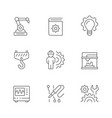 set line icons engineering vector image