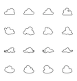 Set of different images clouds vector image vector image
