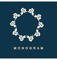 Set of monogram logo template vector image vector image