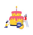 small people - children - cooking and decorating vector image vector image