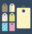 stylish price clothes tag with pattern sale card vector image vector image