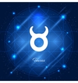 Taurus sign of the zodiac vector image vector image