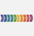 timeline arrows ten positions vector image vector image