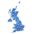 united kingdom map mosaic of pixels vector image