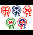 united kingdom rosettes vector image vector image