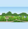 village summer landscape scene vector image vector image