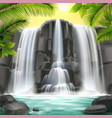 waterfall realistic background vector image vector image