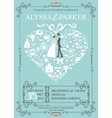 Wedding invitation with heart compositionBride vector image vector image