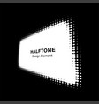 white halftone distort rectangle in perspective vector image vector image