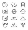 wild safari park outline icon collection vector image