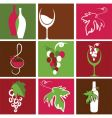 wine bottle and glass icons vector image vector image